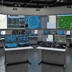 Security surveillance and industrial control room console workstation technical furniture, command center dispatch console. Computer Cart, Console Furniture, Security Surveillance, Space Saving, Desk, Room, Bedroom, Desktop, Table Desk