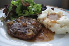 Salsbury steak in the slow cooker?  what the what? #crockpot #dinner #slowcooker www.5dinners1hour.com