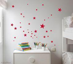 red stars wallstickers #kids #stars #deco