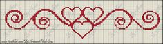 This Pin was discovered by Ros Cross Stitch Pillow, Cross Stitch Bookmarks, Cross Stitch Heart, Cross Stitch Borders, Simple Cross Stitch, Cross Stitch Alphabet, Cross Stitch Flowers, Cross Stitch Designs, Cross Stitching