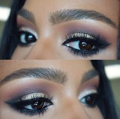 Simple Party MakeUp Tips for Black Women to Look Gorgeous Pretty Makeup, Love Makeup, Makeup Inspo, Makeup Inspiration, Beauty Makeup, Perfect Makeup, Makeup Ideas, Beauty Tips, Simple Party Makeup
