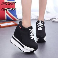 Women Height Increasing Elevator Shoes Ultra High Heels Casual Hidden Wedge Shoes Platform Source by radiantebellisima shoes with jeans Sneaker Heels, Wedge Sneakers, Wedge Shoes, Flat Shoes, Womens Fashion Sneakers, Fashion Shoes, Fashion Women, Sneakers Women, Fashion 2016