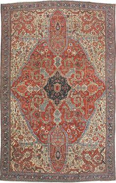 Persian Heriz rug, x Wall Carpet, Rugs On Carpet, Persian Carpet, Persian Rug, Asian Rugs, Magic Carpet, Cool Rugs, Deco, Vintage Rugs