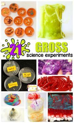 Delight kids with these fun and hands-on gross science experiments and STEM activities. So many gross activities for kids to try!