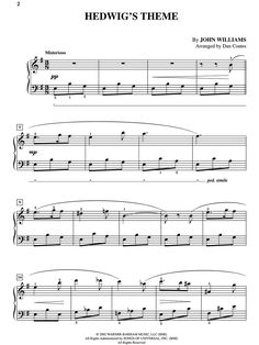Hedwig's Theme sheet music for my neice
