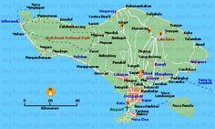 tourist map of bali indonesia   Gitgit Waterfall   Bali Paradise