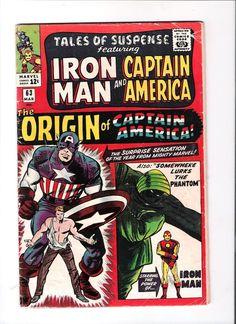 TALES OF SUSPENSE #63 Origin of Captain America; Somewhere lurks the Phantom!  http://www.ebay.com/itm/TALES-OF-SUSPENSE-63-Origin-of-Captain-America-Somewhere-lurks-the-Phantom-/301309045707?roken=cUgayN