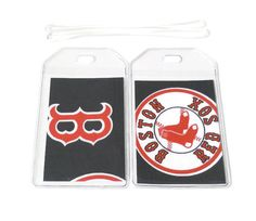 Luggage Tags Set of 2 Boston Red Sox by BostonLinz on Etsy