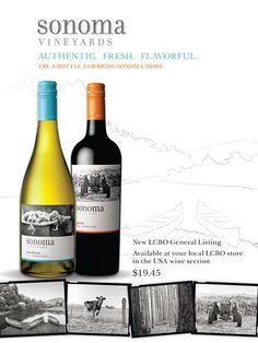 Sonoma Vineyards #wine #advertisement