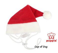 "Bonnet de Noël ""Santa Hat"" Puppia https://www.cupofdog.fr/vetement-chihuahua-manteau-petit-chien-xsl-246.html"