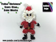 Rainbow Loom Father Christmas/Santa Claus/Saint Nicolas Action Figure/Doll/Charm/Ornament