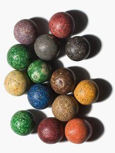 Porcelain marbles excavated in Savannah, GA.