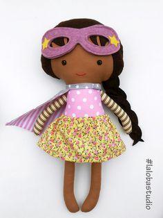 Superhero doll by La Loba Studio #dolls #superhero #toddler #handmade_dolls #prescooler #giftforkids