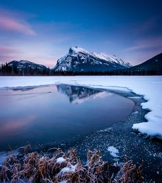 Mount Rundle, Banff National Park, Canada my mountains <3