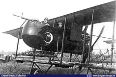 Farman (Frères) F.40bis Type Militaire 56 of the Quadypres (F.) based 8th Reconnaissance and Bombardment Squadron   commanded by Lieutenant Louis de Burlet, who is visible in the gunner's position while Sous-Lieutenant Franz Lacroix is   the pilot. Notice the Owl painted on the fuselage which was the unofficial crest of N° 8 Squadron.