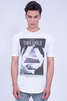 "Longline Raglan T-Shirt In ""Threshold"" Print"