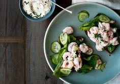 June '12:  Shrimp and Cucumber Salad with Horseradish Mayo