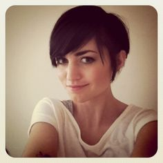 long bangs pixie hair