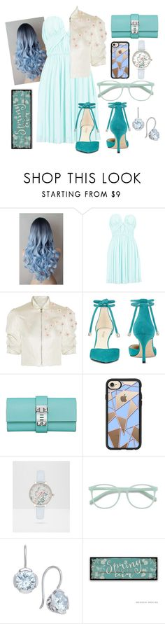 """Spring"" by fannyfelia ❤ liked on Polyvore featuring Boohoo, Reem Acra, Nine West, Casetify, Ted Baker and Thomas Sabo"