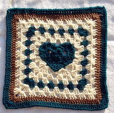 """Ravelry: Heart of a Granny 12"""" x 12"""" pattern by Donna Mason-Svara - INCREDIBLE FAVORITE OF MINE"""