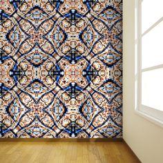 """""""Portuguese tiles"""" Papel pintado por Monike_Meurer"""