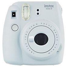 Fujifilm Instax mini 9 kompaktkamera (røykhvit)