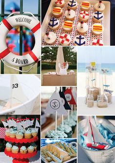 Here's a mood board for a nautical party I'm working on for a soon to be one year old! Nautical printables coming up! 1st Boy Birthday, First Birthday Parties, First Birthdays, Sailor Theme, Rainbow Parties, Nautical Party, Party Decoration, Diy Party, Party Ideas