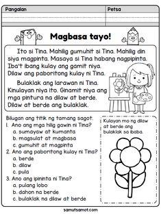 Magbasa Tayo!: Ang Larawan ni Tina - Samut-samot Grade 1 Reading Worksheets, First Grade Reading Comprehension, Kindergarten Reading Activities, Phonics Reading, Reading Comprehension Worksheets, Reading Passages, School Worksheets, Kindergarten Worksheets, Reading Lessons