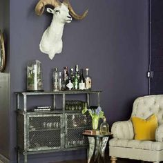 Liqueur cabinet!  Quirky, eclectic living room | Living room design ideas | housetohome.co.uk