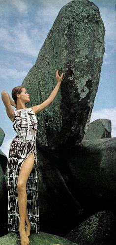 Veruschka by Henry Clarke Vogue 1965...Veruschka: six foot three inches tall!