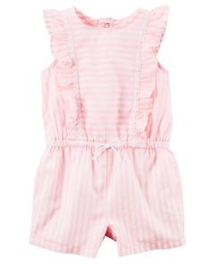 Neon Stripe Flutter Sleeve Romper from Carters.com. Shop clothing & accessories from a trusted name in kids, toddlers, and baby clothes.