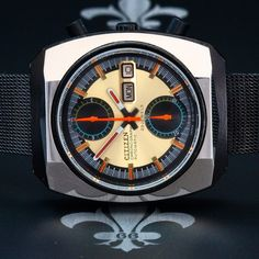 """1970s CITIZEN """"Monaco"""" Ref. 67-9071 Vintage Chronograph Watch 23j CTZ Cal. 8110A"""