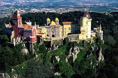 The Pena National Palace (Portuguese: Palácio Nacional da Pena) is the oldest palace inspired by European Romanticism.