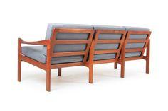 Illum Wikkelso Teak Sofa for Niels Eilerson - Mr. Bigglesworthy Designer Vintage Furniture Gallery