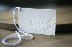Letterpress Gift Tags - Calligraphy Christmas Gift Tags
