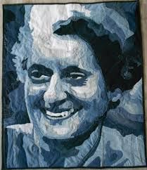 Quilt art Upcycled Denim Quilting Art Handmade Textile wall hanging Quilts for sale Gift for her him Portrait Indira Gandhi India Wall art Quilt Art Recycled Denim Blue Jeans Wand von DenimCottonQuilts Hanging Quilts, Hanging Fabric, Quilted Wall Hangings, Quilt Art, Portrait Art, Pet Portraits, Patchwork Quilts For Sale, Indira Gandhi, Denim Art