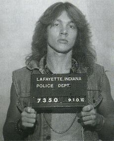 Axl Rose, 1982 one of at least five arrests which prompted him to leave his hometown to prevent being labeled a habitual offender which could have led to a life sentence next time.