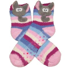 RSG Girls & Women's Animal Non Skid Slipper Socks (Stripes Elephant) RSG http://www.amazon.com/dp/B00H30D6GA/ref=cm_sw_r_pi_dp_suhcwb15T5CQN