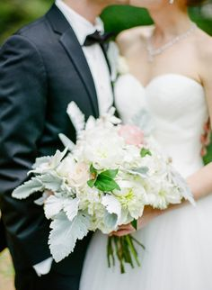 Classic to the core, this lavish ballroom wedding featuring a must-see ballgown celebrates timeless beauty and elegant style. Floral Wedding, Wedding Bouquets, Wedding Dresses, Blush Color Palette, Wedding Flower Inspiration, Wedding Ideas, Cream Blush, Ballroom Wedding, Essex House