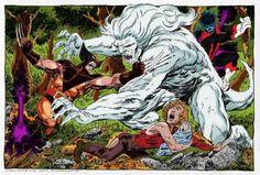 Wolverine/Nightcrawler and Wendigo by byrne