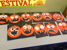 Funny pumpkin craft for kids !
