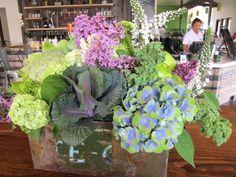 classic • casual • home, flower arrangement using veggies