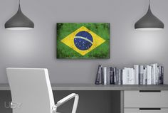 Brazil Flag Gallery Wrapped Canvas