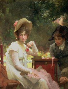 """""""In Love"""" - 1907 by Marcus Stone (english painter)"""