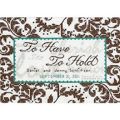 """Treasured Words Wedding Record Mini Counted Cross Stitch Kit, 7""""X5"""" 14 Count"""