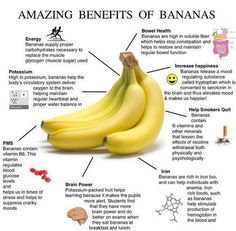 Banana counts as a delicious fruit. Conceivably the most appetizing in our country, banana is a delicious, fragrant, healthy and eager to eat. People who feel tired it is very useful for them to have bananas. There is Iodine deficiency in banana. Health Facts, Health And Nutrition, Health And Wellness, Banana Nutrition, Health Fitness, Health Care, Fitness Diet, Fitness Facts, Free Fitness