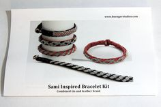 The 216 best sami armband images on pinterest in 2018 armband instructions for tin and leather sami bracelet kit fandeluxe