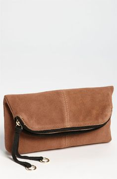 I love this:) Looks so soft! Danielle Nicole 'Kate' Foldover Clutch | Nordstrom