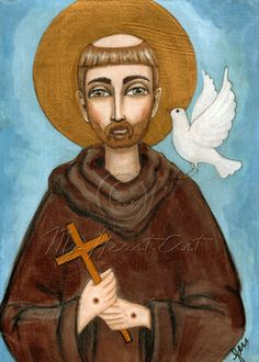 Saint Francis of Assisi and the Dove of Peace   © Geri Centonze