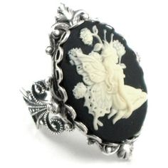 Gothic Lolita Jewelry - Dark Fairy Cameo Ring by Ghostlove